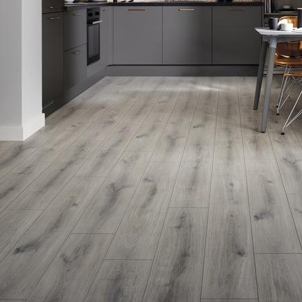 Professional V Groove Grey Oak laminate flooring