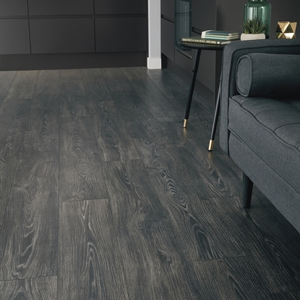 Professional V Groove Black Oak laminate flooring