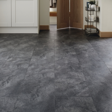 Professional V Groove Midnight Slate Laminate Tiles
