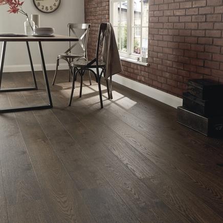 Fast Fit Dark Oak single plank wide flooring