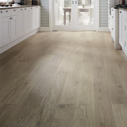 Fast Fit Light White Oak single plank wide flooring