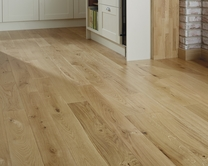 Howdens Solid Oak flooring (17% Gloss)