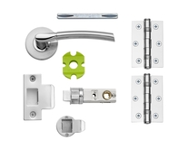 Newington Polished/Satin quick fit latch pack