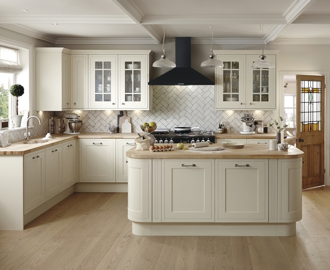 Tewkesbury Framed Antique White Kitchen Shaker Kitchens