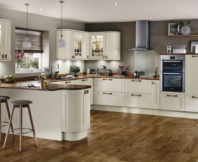 Tewkesbury Antique White Kitchen Shaker Kitchens