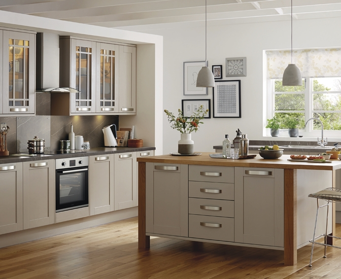 Tewkesbury Cashmere Kitchen Shaker Kitchens Howdens Joinery