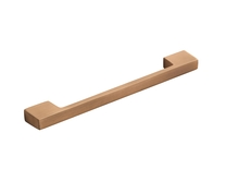 Brushed Copper Effect square bar handle
