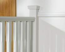 Square half newel post