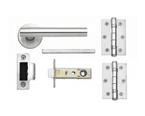 Lecco Satin Stainless Steel rose latch pack