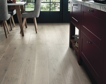 Pre-Finished Fast Fit Light Grey Oak single plank wide (180mm) flooring