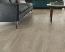 Pre-Finished Fast Fit Light Grey Oak 3 strip flooring