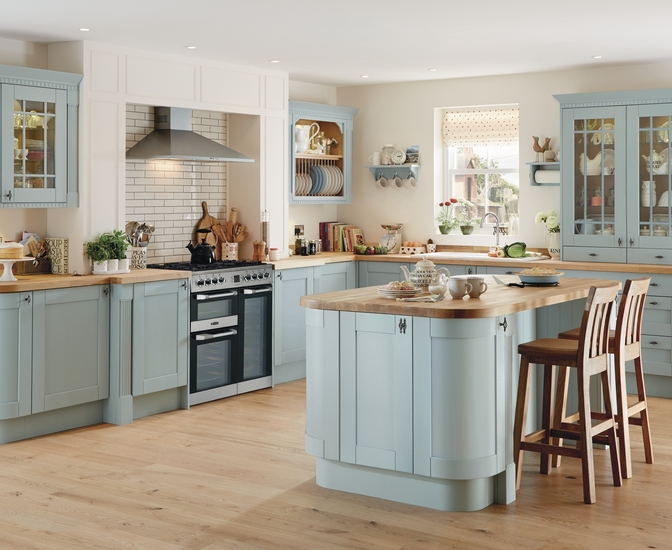 Blue Kitchens tewkesbury blue kitchen | shaker kitchens | howdens joinery