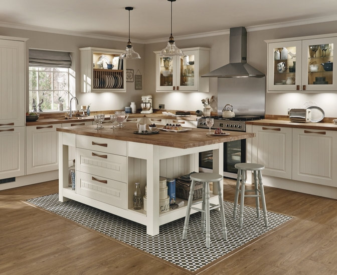 Burford Tongue Amp Groove Ivory Kitchen Shaker Kitchens