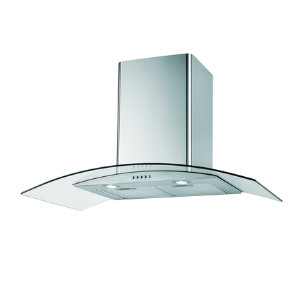 Lamona Curved Glass Extractor Fan 90cm Howdens Joinery