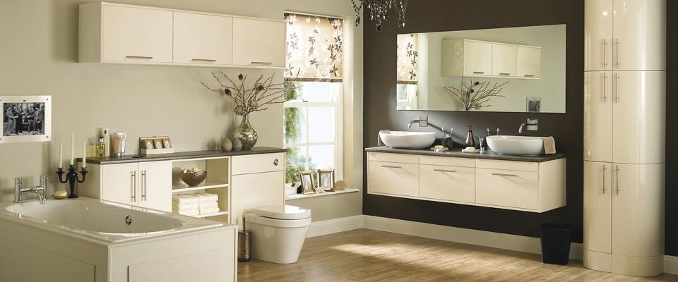 Glendevon Gloss Ivory bathroom
