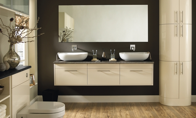 Glendevon Gloss Bathroom Cabinet Howdens Joinery