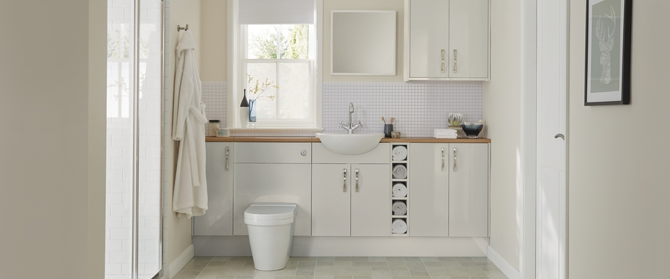 Greenwich Gloss Dove Grey bathroom