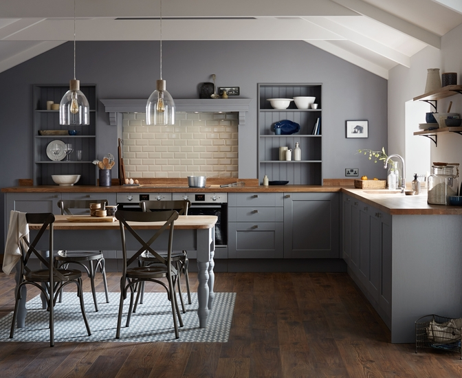 Fairford Slate Grey Kitchen Shaker Kitchens Howdens