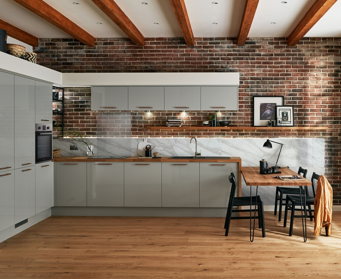 Glendevon Gloss Grey Kitchen Universal Kitchens