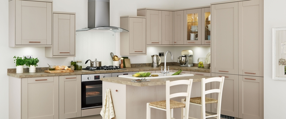 Tewkesbury Cashmere functional kitchen