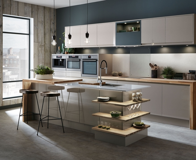 Bayswater Gloss Cashmere Kitchen Contemporary Kitchens Howdens Joinery