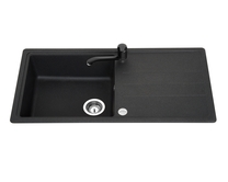 Lamona Black standard composite single bowl sink