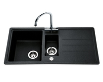 Lamona Black standard composite 1.5 bowl sink