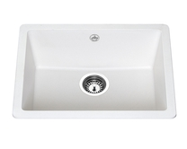 Lamona White granite composite inset/undermount single bowl sink