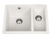 Lamona White granite composite inset/undermount 1.5 bowl sink