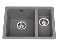 Lamona Grey granite composite inset/undermount 1.5 bowl sink