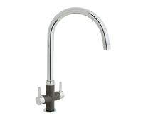 Lamona Chrome and Grey Calaggio swan neck monobloc tap