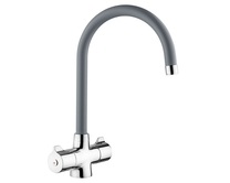 Lamona Grey Rhone swan neck monobloc tap
