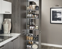 Upgrade full-height pull-out larder & Kitchen Storage Solutions | Pull-Out Kitchen Storage | Howdens Joinery