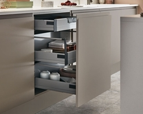 Internal soft close 3 drawer base unit