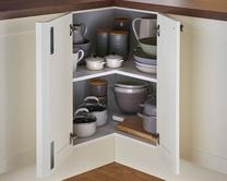 Corner base shelf unit