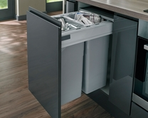 64L integrated recycling bin