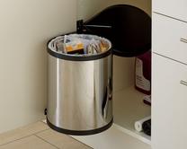 Single compartment bins