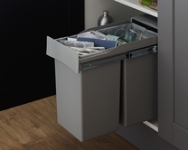30L Pull-out recycling bin with 2 compartments