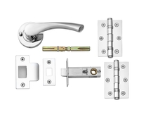 Sofia Chrome Push Button Privacy Latch Pack