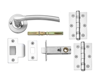 Newington Polished/Satin Push Button Privacy Latch Pack