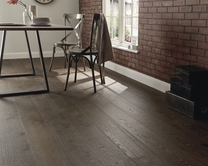 Pre-Finished Fast Fit Dark Oak single plank wide (180mm) flooring