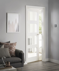 4 Panel Shaker smooth glazed door
