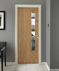 Oak Vaneer 20G Glazed door