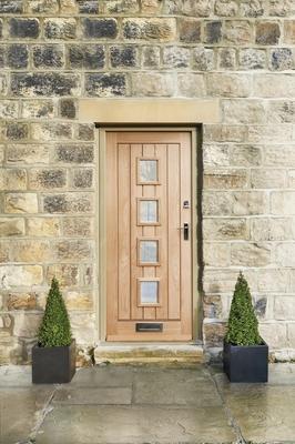 External Dordogne Oak Glazed Door