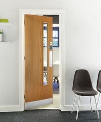 Oak Foil 20G glazed door