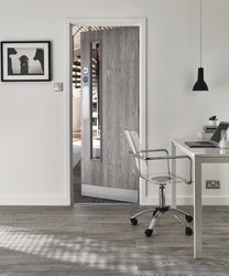Light Grey Oak foil 20G glazed door