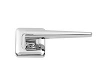 Lugano Chrome Rose door handle