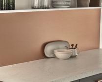 Brushed Copper Effect Laminate backboard