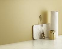 Brushed Brass Effect Laminate backboard