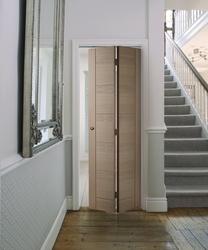 Linear Oak Bi-fold door